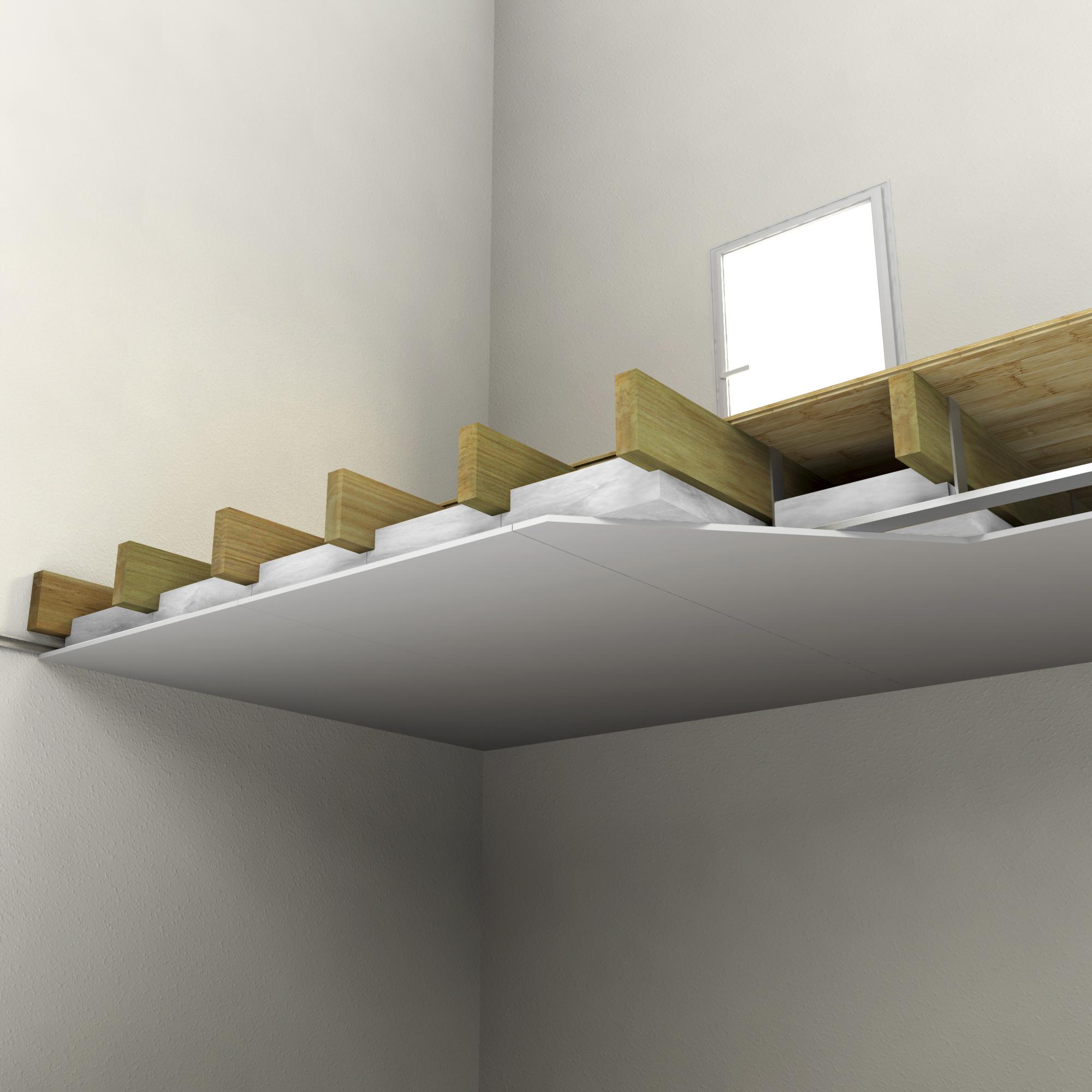 Isolant Pour Plafond Good Faux Plafond Avec Double Paisseur Croises